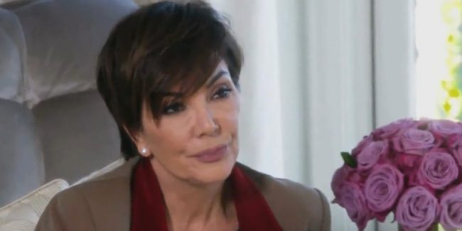Kris Jenner during her heated head-to-head with daughter Khloe