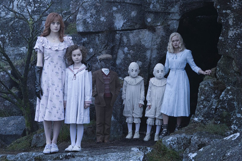 Some of the 'peculiar children' in Tim Burton's adaptation of Ransom Riggs's 2011 novel