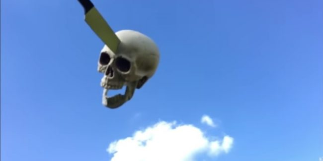 A skeleton lives like a rockstar in The Wytches' Who Rides? video