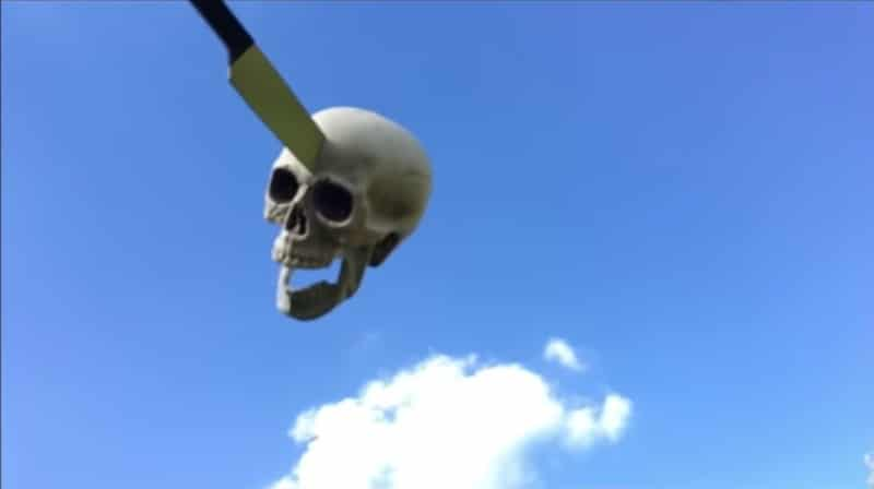 The skeleton's head in The Whyches' video for new single Who Rides? Watch the full video below