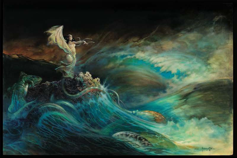 Sea Witch by Frank Frazetta, which has an estimate of $1million