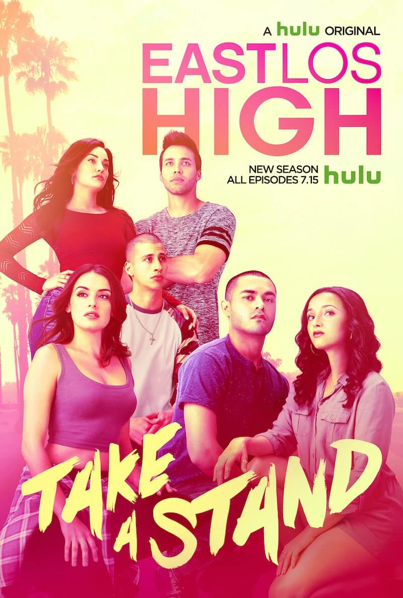 The new key art for East Los High Season 4 on Hulu