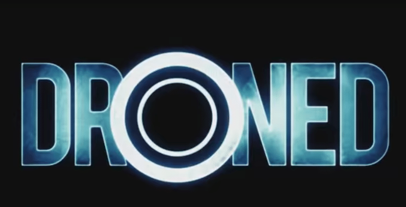 The logo for DRONED