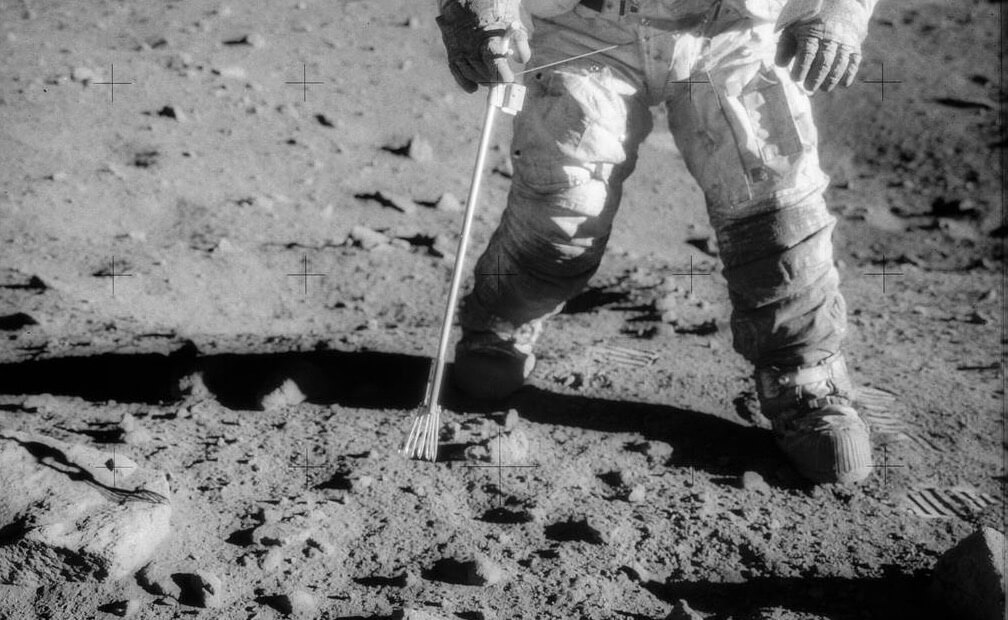 Charles Conrad Jr. during the Apollo 12 mission in 1969, did they find something below the surface?
