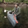 Jose and his canoe on Alone