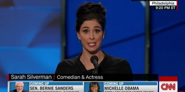 Sarah Silverman tells Bernie supporters they're being 'ridiculous'