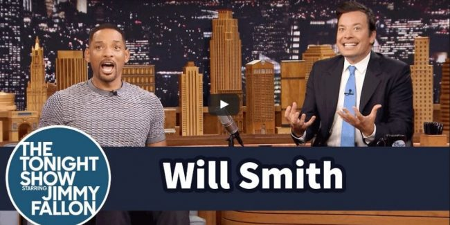 Watch how super-excited Will Smith got over the Suicide Squad Batmobile