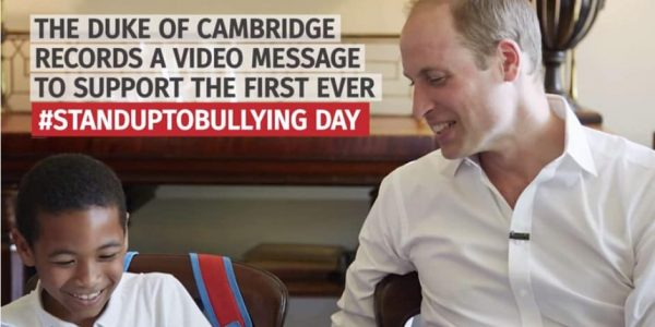 Prince William speaks out against bullies