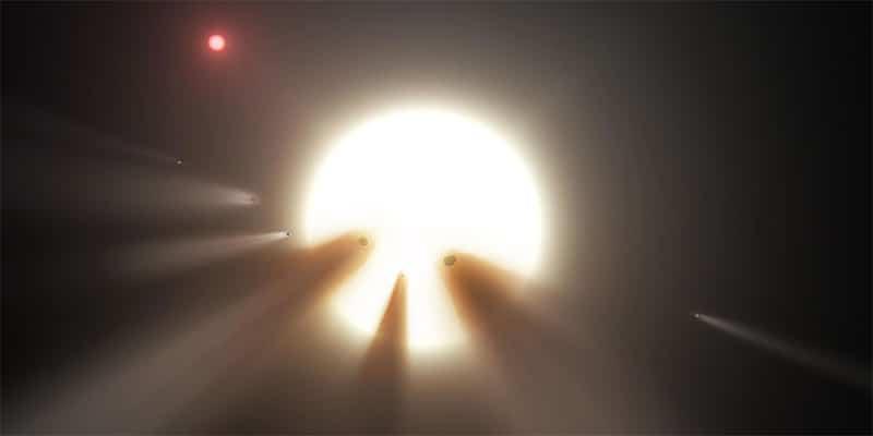 Comets around the WTF Star