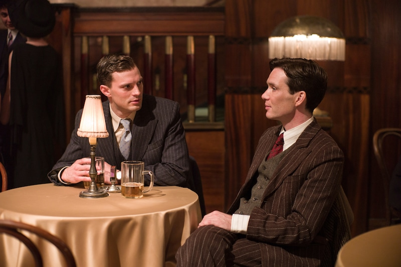 Jamie Dornan (left) stars as Jan Kubiš and Cillian Murphy (right) stars as Josef Gabčík in director Sean Ellis' ANTHROPOID