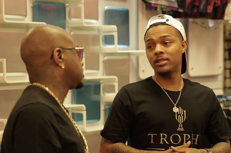 Bow Wow talks to Jermaine during filming of tonight's episode of The Rap Game