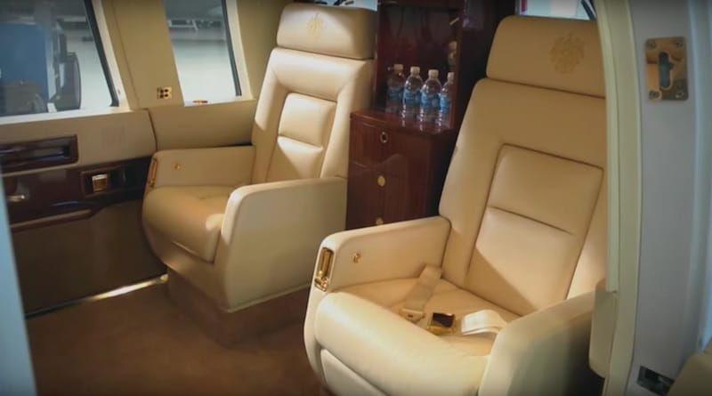 Interior Of Donald Trumps Helicopter