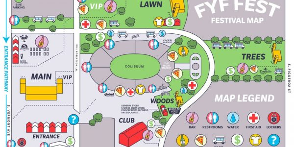 FYF Fest shares map and set times. Be prepared!