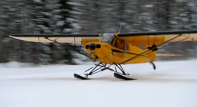 Marty flys out in his plane to go trapping