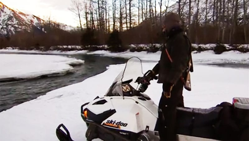 Mountain Men battle water and ice