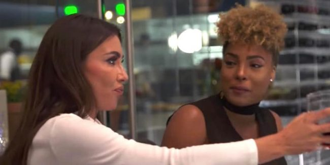 Hencha Voigt talks over Metisha Schaefer at full-of-herself Tia Shipman on tonight's WAGS Miami