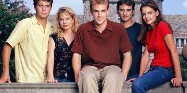 The Dawson's Creek cast: Pacey, Jennifer, Dawson, Jack and Joey