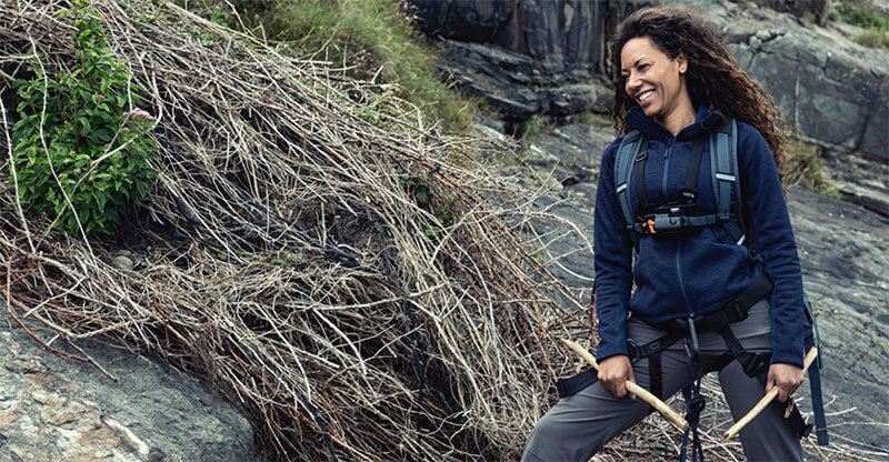 Mel B goes over the edge on Running Wild with Bear Grylls