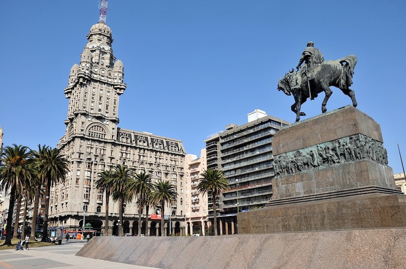 A view of the famous Palacio Salvo in Montevideo, Uruguay