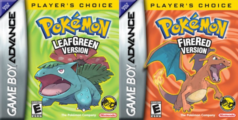 Pokemon FireRed and LeafGreen boxes