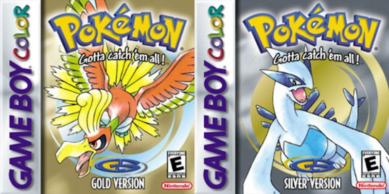 Pokemon Gold and Silver boxes