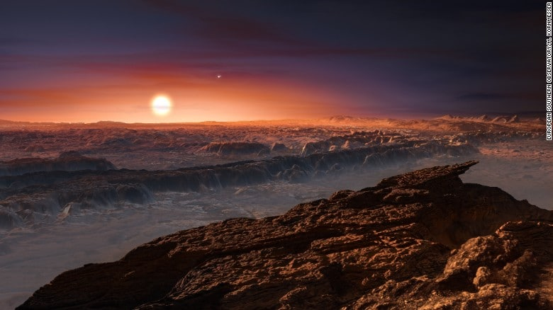 An artist's impression of what the surface of Proxima b might be like