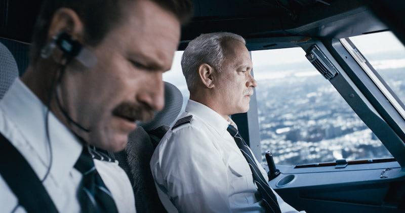 Tom Hanks in the cockpit in Sully