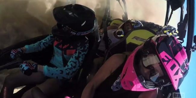 The ladies in the dune buggy crash on The Real Housewives of Orange County