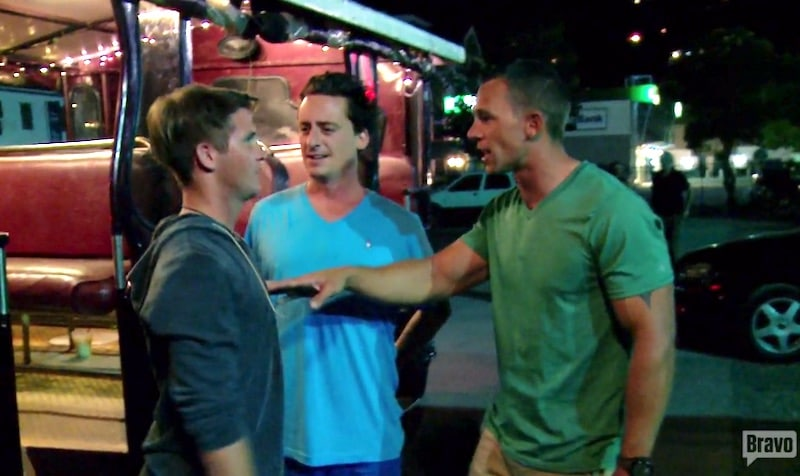 Kelley and Ben confront Trevor after he bad-mouths the military Below Deck Season 4 Episode 4