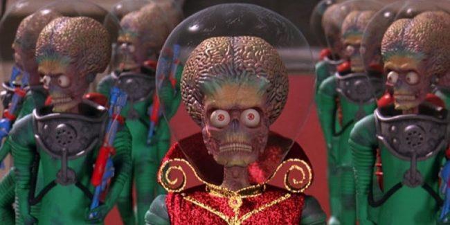 Martians in Tim Burton's Mars Attacks