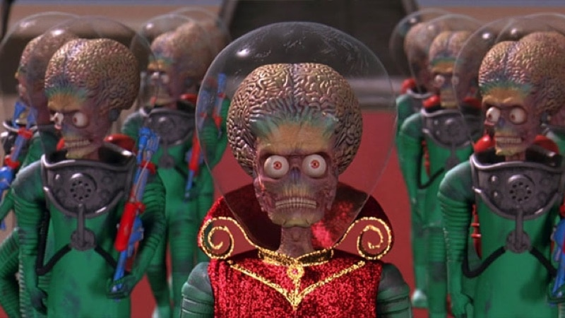 Martians in Tim Burton's Mars Attacks