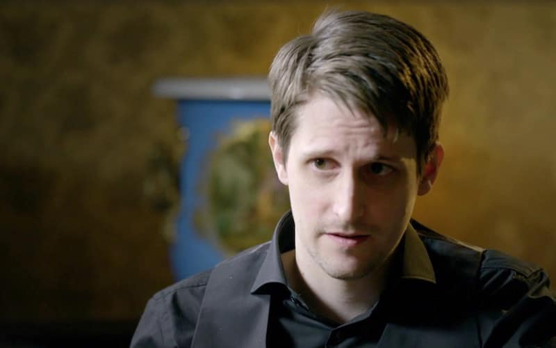 Edward Snowden in the preview clip for HBO's new weeknight show Vice News  Tonight