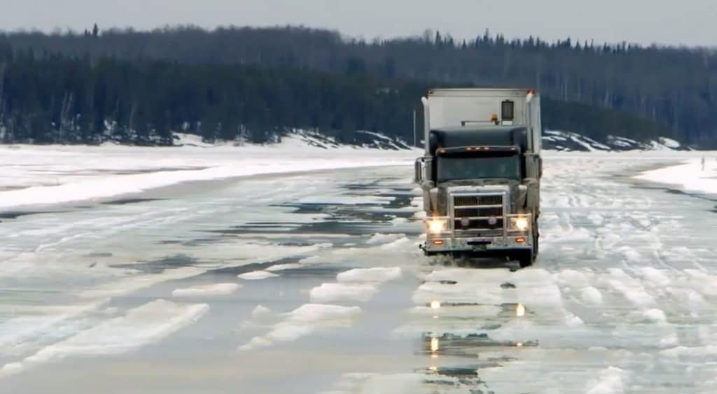 Fire and thin ice on finale of Ice Road Truckers Season 10