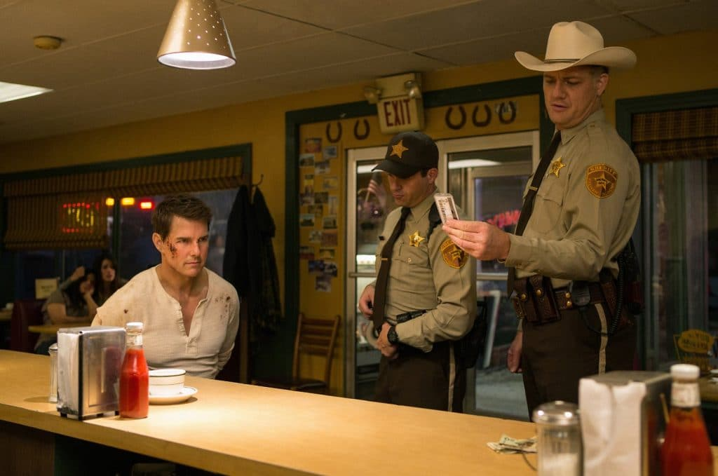 Tom Cruise in Jack Reacher Never Go Back which he will talk about on Jimmy Kimmel Live