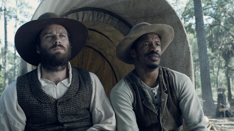 Armie Hammer as Samuel Turner and Parker as Nat Turner