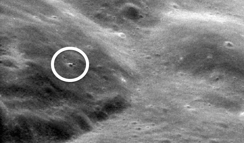 The image of the UFO seen close to the surface of the moon in the image from the Apollo 11 mission