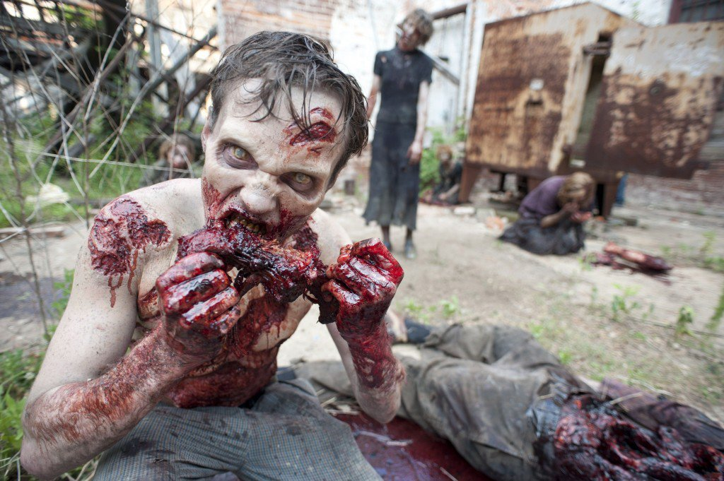A zombie from The Walking Dead