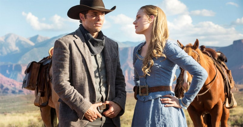 Teddy and Dolores in Westworld