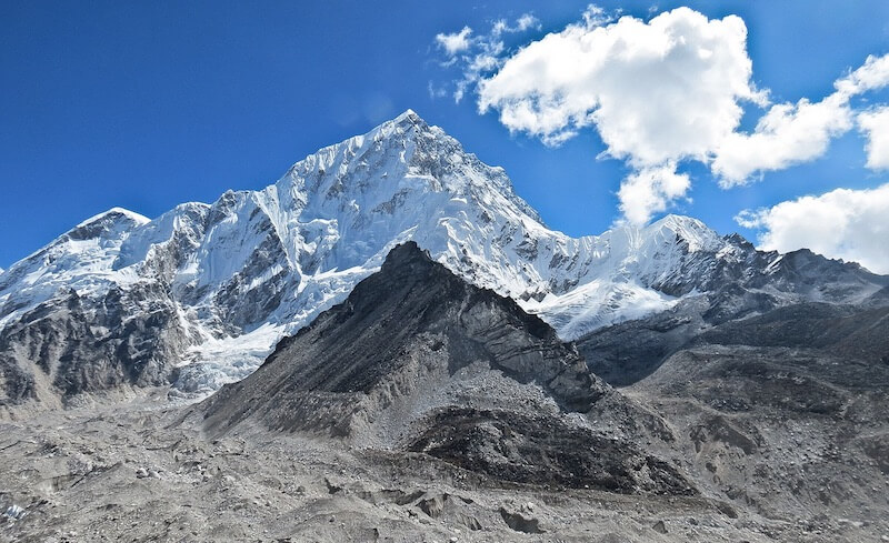 Mount Everest, the highest mountain in the world