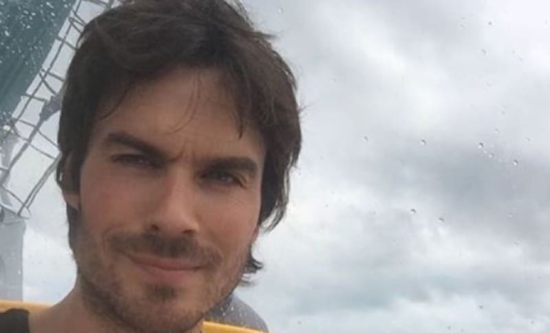 Ian Somerhalder about to descend on a submarine whilst filming Years of Living Dangerously