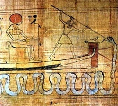 Set spearing Apep in his snake form