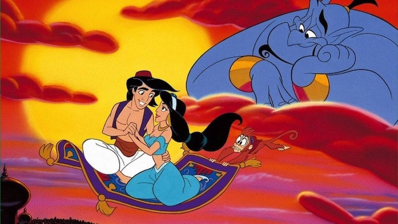 "The magic carpet ride in Aladdin. All together now: .""A whole new world..."""