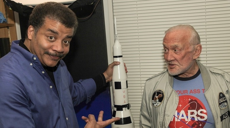 Buzz Aldrin with Neil deGrasse Tyson on StarTalk