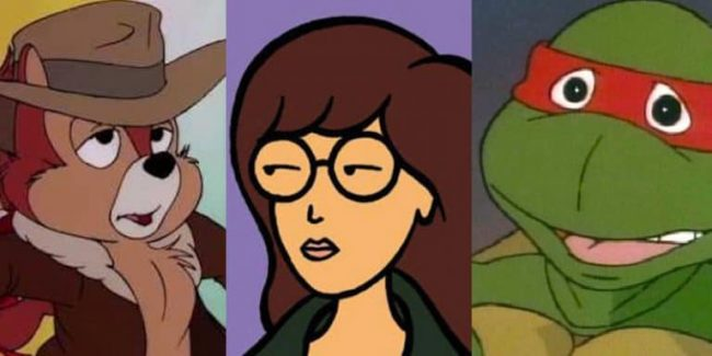 Three of the coolest characters of all time: Chip, Daria and Raphael