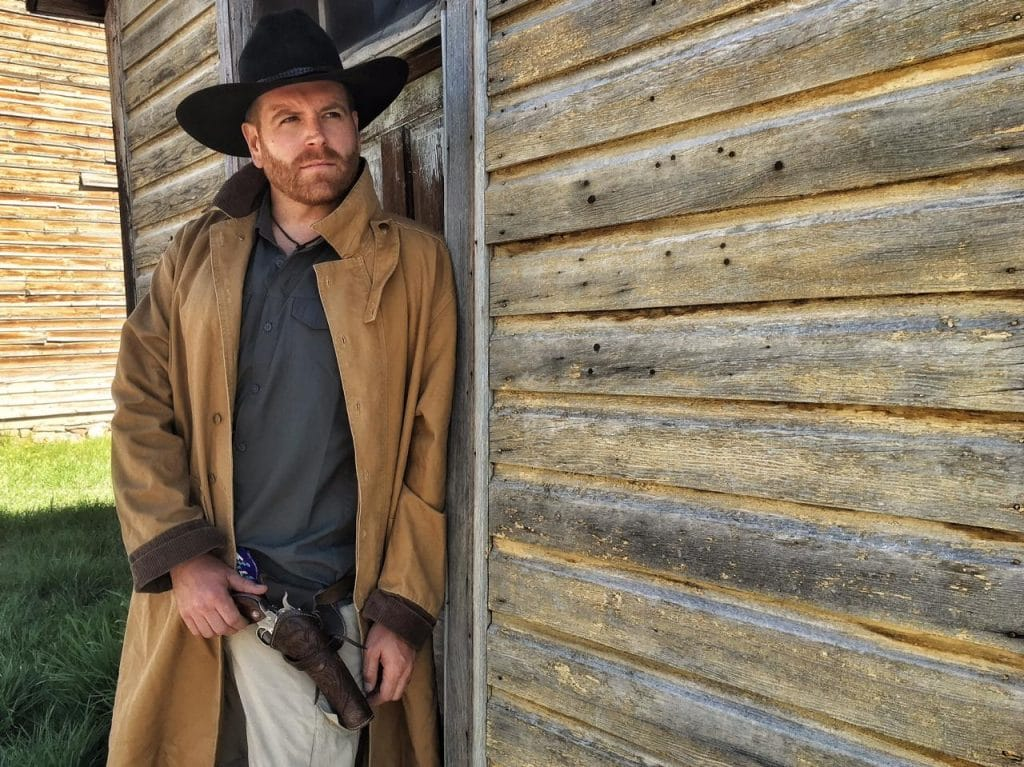 Josh Gates in western gear