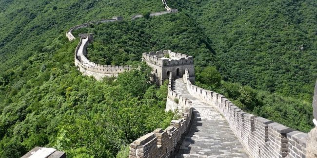 The Great Wall of China, one of the seven wonders of the modern world