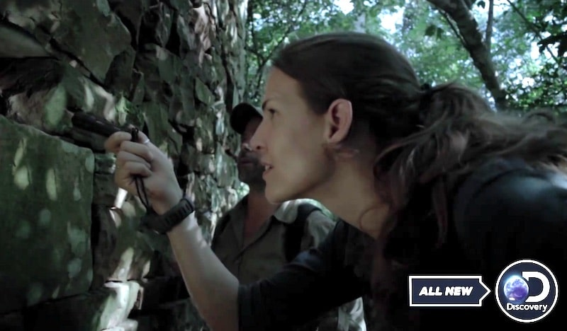 Mehgan Heaney-Grier investigates a possible Jesuit chamber on tonight's Treasure Quest: Snake Island