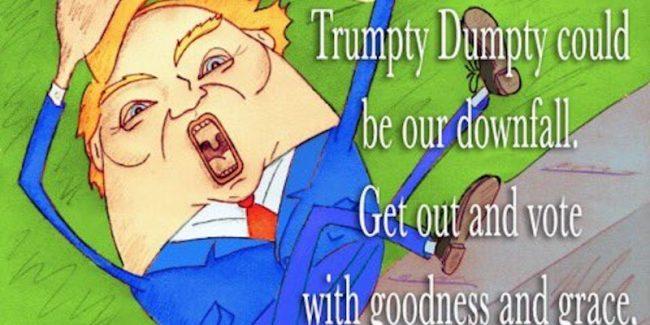 Jim Carrey draws cartoon slamming 'Trumpty Dumpty' Donald Trump