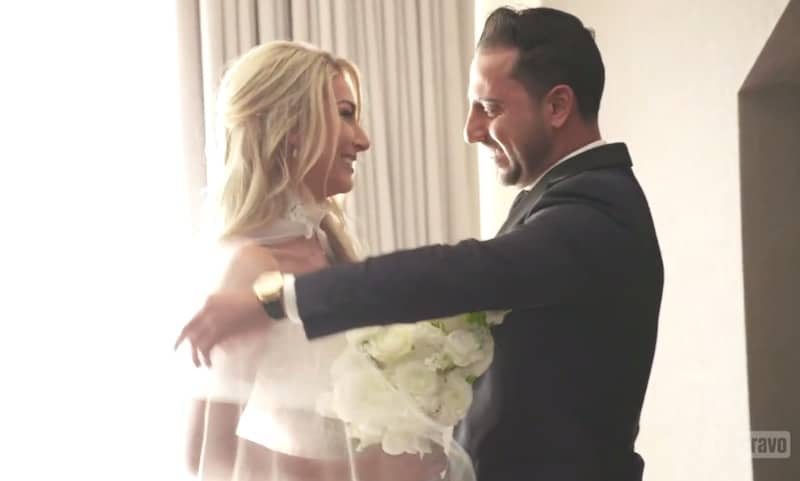 Josh sets eyes on Heather in her wedding dress for the first time on Million Dollar Listing LA