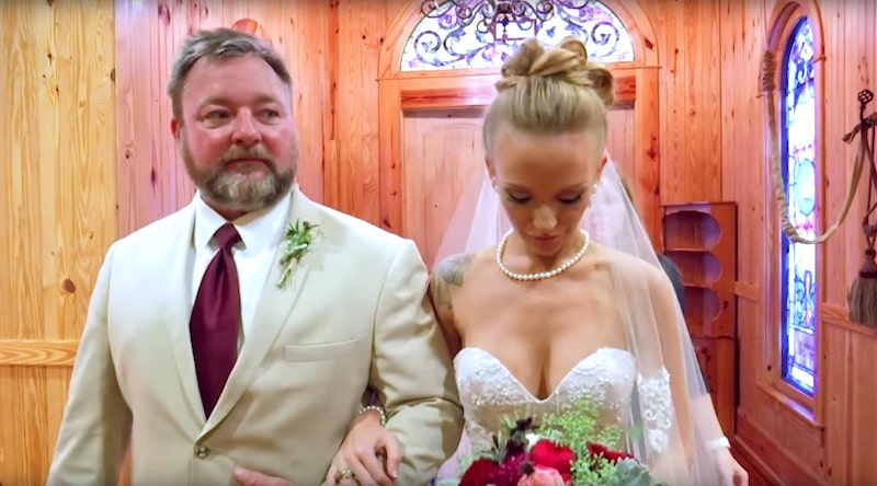 Maci and her dad Billy as she prepares to walk down the aisle on the Teen Mom OG finale